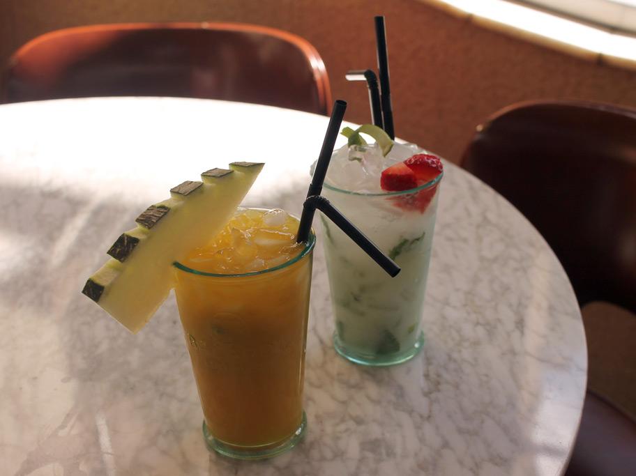 Cafetería Faustino. Terraza en Plaza San Francisco. Zaragoza. Cocktails